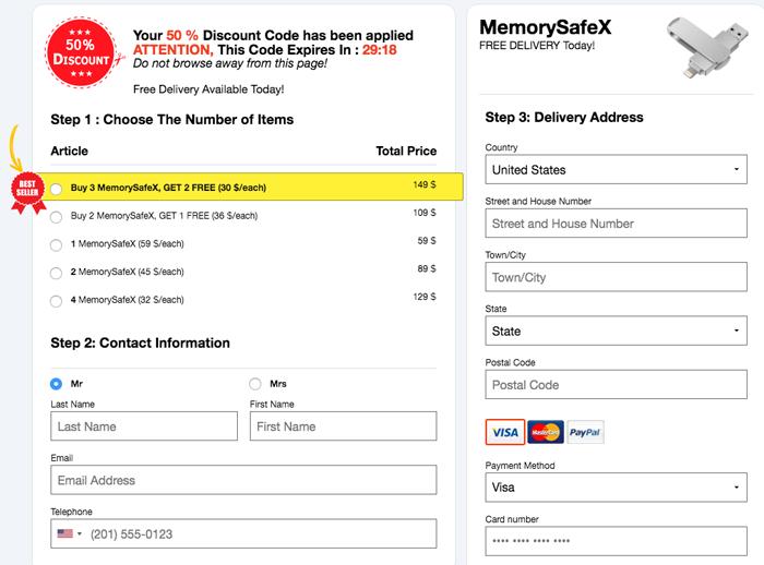 order MemorySafex