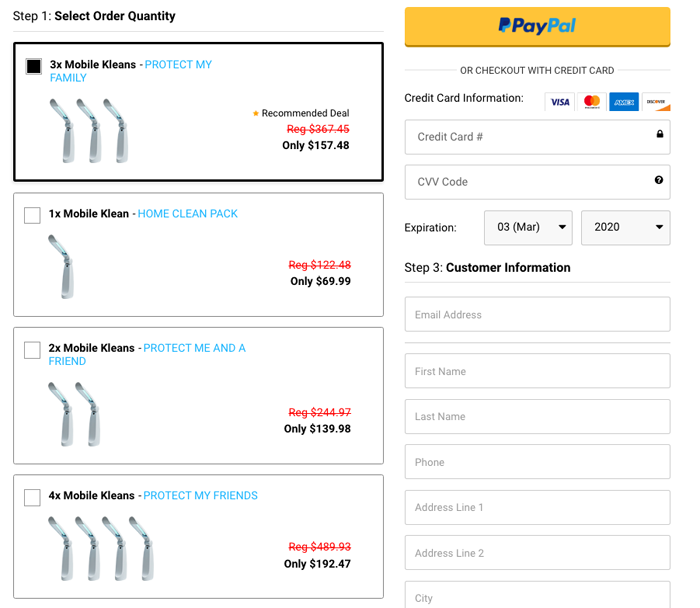 mobile klean price
