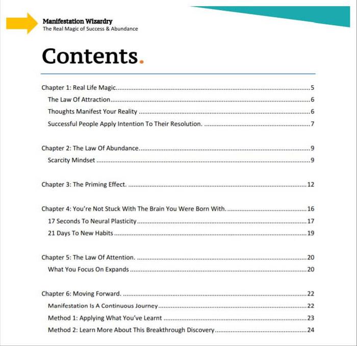 15 minute manifestation pdf review